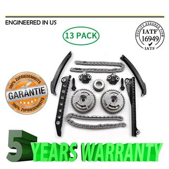 For 08-14 Ford F150 F250 Lincoln TRITON 3-Valve Timing Chain Kit Cam Phaser 5.4L