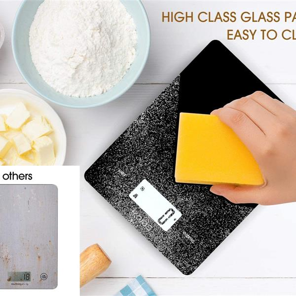 KOIOS USB Rechargeable and Kitchen Scale with Waterproof Glass Body (The product has a risk of infringement on the Amazon platform)