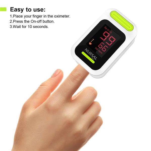 Nursal Fingertip Pulse Oximeter Blood Oxygen Saturation Monitor (The product has a risk of infringement on the Amazon platform)
