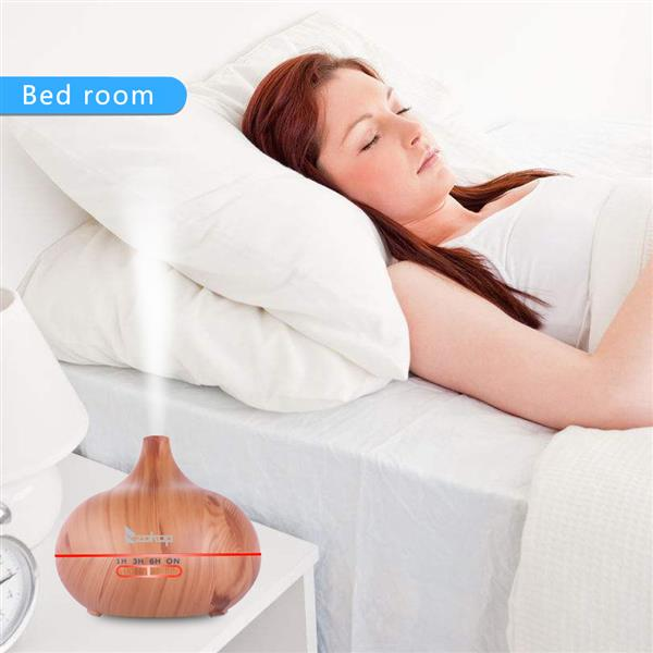 1801YK 220V 500ML RGB Aroma Diffuser with White Controller UK Plug