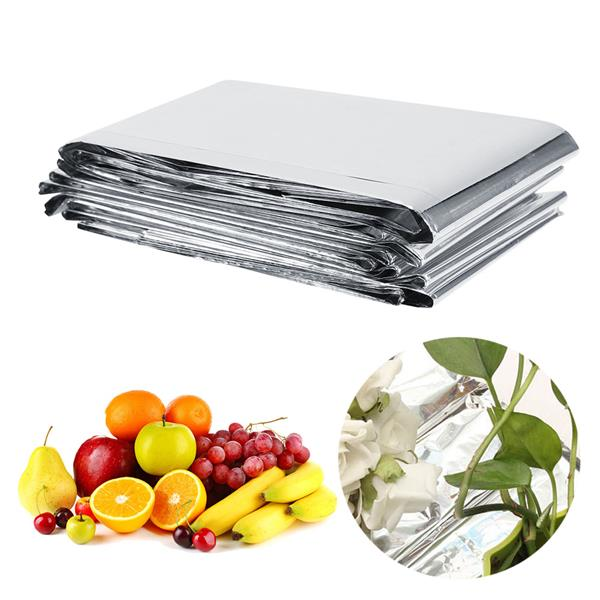 1Pc 210 x 120cm Silver Plant Reflective Film Garden Greenhouse Grow Light Accessories New