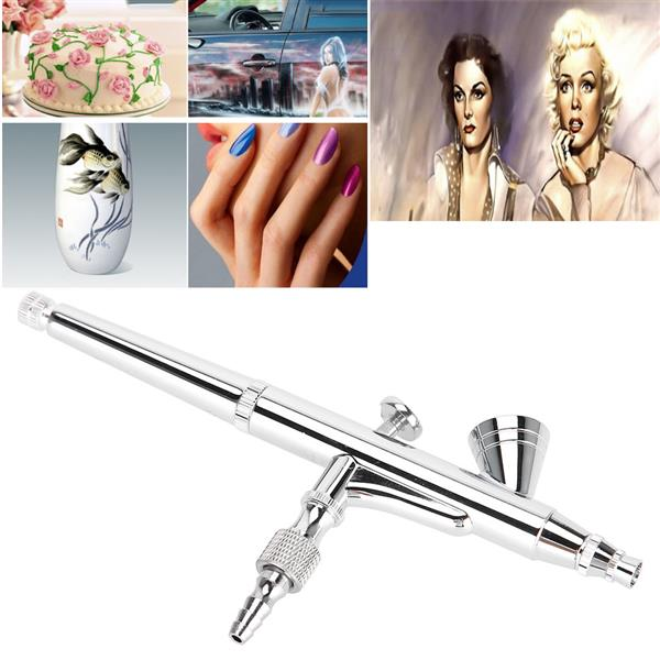 0.2mm 2cc Gravity Feed Dual-action Airbrush Kit Set for Nail Body Paint