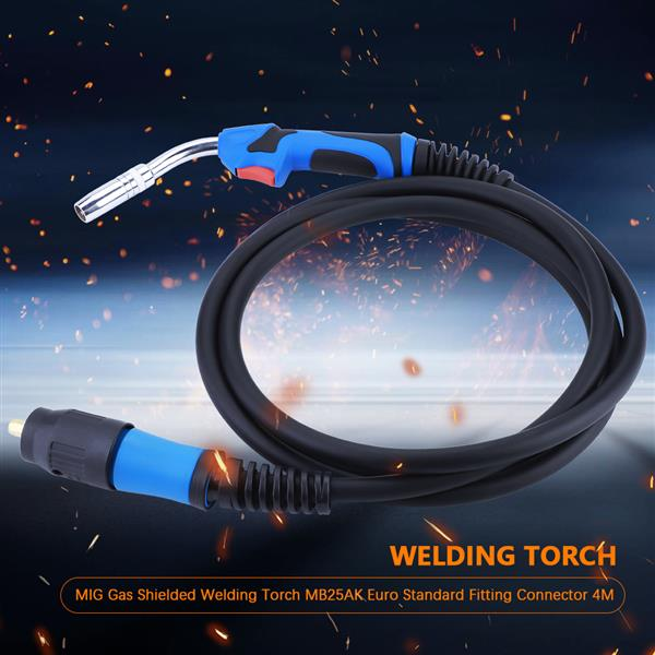 MIG Gas Shielded Welding Torch MB25AK Euro Standard Fitting Connector 4M