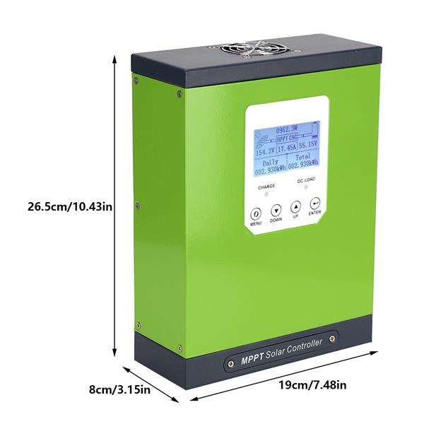 LCD Display MPPT Solar Charge Controller with Temperature Sensor 12V/24V/48V Automatic 40A
