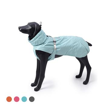 New Style Dog Winter Jacket with Waterproof Warm Polyester Filling Fabric--(Blue,size L)