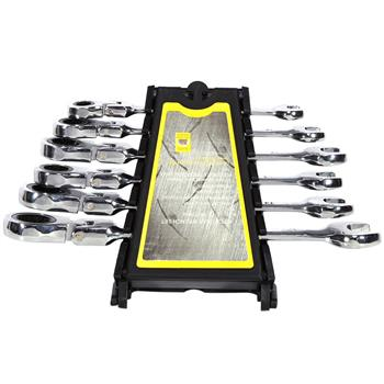 6 Piece Flexible Wrench Reversible Ratcheting Combination Wrench Set