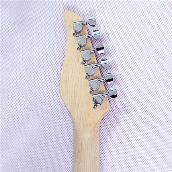 New style electric guitar basswood body maple neck maple fingerboard alnico pick up red turn yellow color good quality