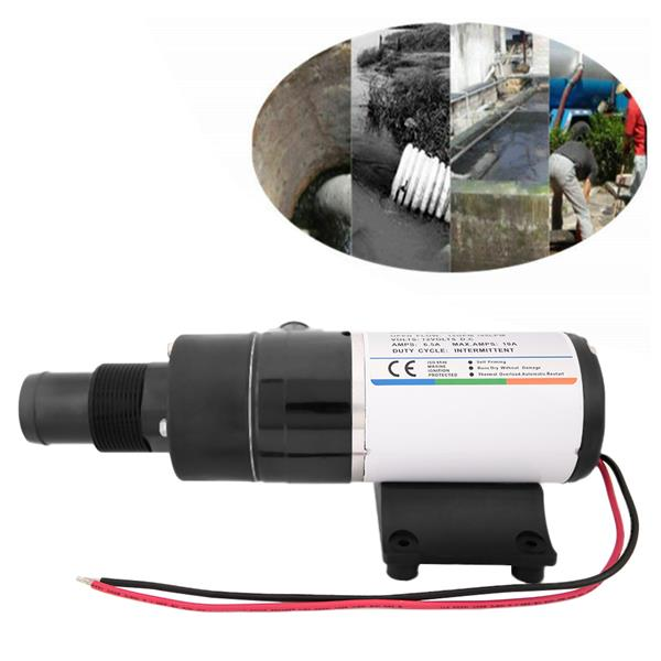 DC12V Durable Campers Ship Kitchen Industry RV Mount Macerator Waste Water Pump 12GPM