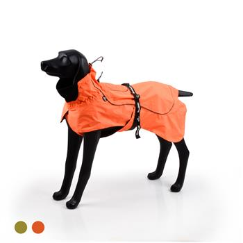 BLACKDOGGY Dog Coats Small Waterproof,Warm Outfit Clothes Dog Jackets Small,Adjustable Drawstring Warm And Cozy Dog Sport Vest-(orange,size M)