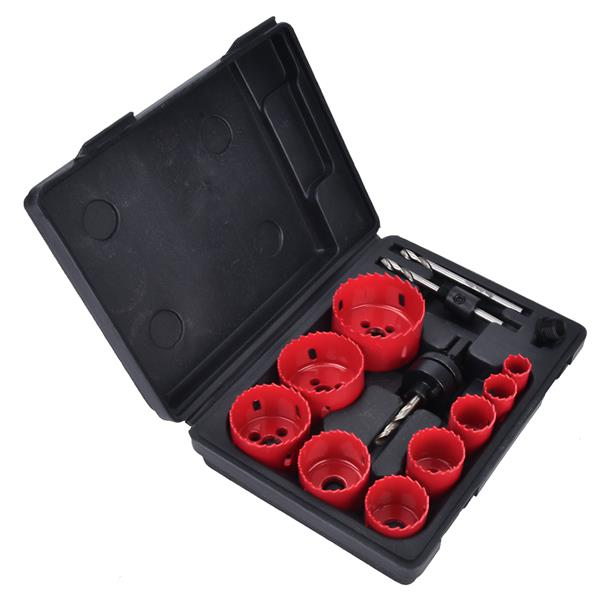 13 pcs Hole Saw Kit General Purpose Saw Kit 3/4in~2-1/2in with Guide Drill Adapter Set