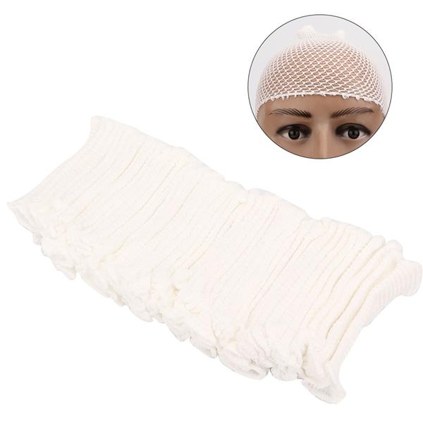 50pcs Elastic Mesh Hat Breathable Mesh Bandage for Wound Dressing(7# Children Below 5 Years Old)