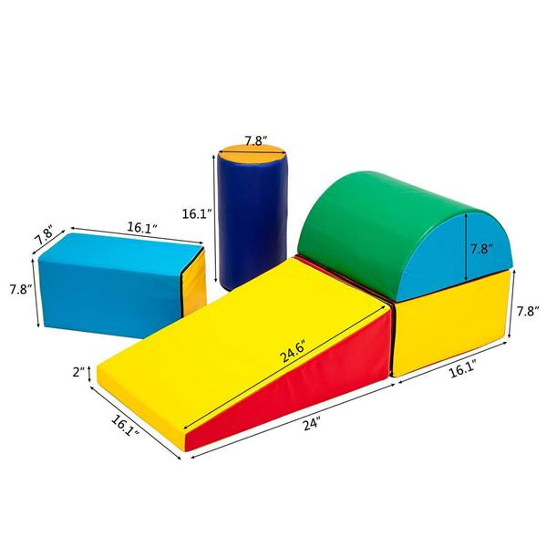 Children's brain development puzzle is suitable for children from 9 months to 3 years old to climb slopes, slide, and crawl with brightly colored foam blocks