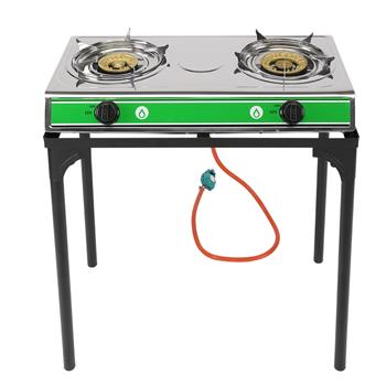 2 Burner Propane Gas Stove Portable Camping Stand Outdoor Cooking Stainless Cook