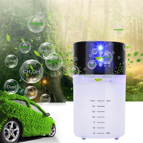 Anion Air Purifier Odor Removal Air Purifier Aromatherapy Diffuser for Bedroom Car Black