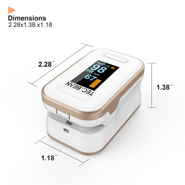 Tec.bean Fingertip Pulse Oximeter Blood Oxygen Saturation Monitor (The product has a risk of infringement on the Amazon platform)