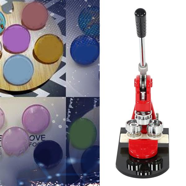 1pc 5.8cm Badge Punch Press Maker Machine With 1000 Circle Button Parts+Circle Cutter