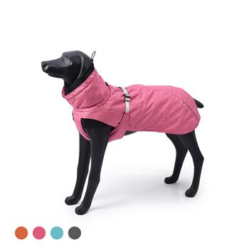 New Style Dog Winter Jacket with Waterproof Warm Polyester Filling Fabric-(pink,size L)