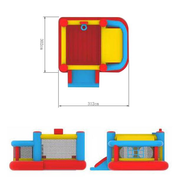 LEADZM BH-001 Inflatable Castle 420D Oxford Cloth Scraping Material