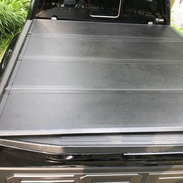 5.5' Hard Quad-Fold Tonneau Cover For Ford F-150 Truck Bed 2015-2020