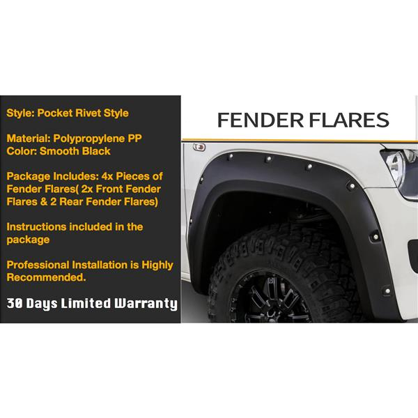 FENDER FLARES FOR Silverado 99-02/GMC Sierra 99-06