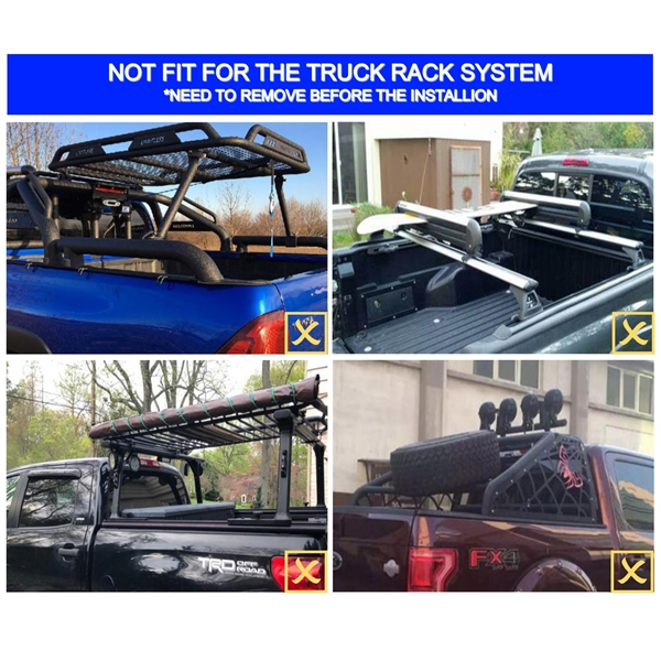 车盖板FOR 6.5' Hard Quad-Fold Tonneau Cover For Ford F-150 Truck Bed 2015-2020