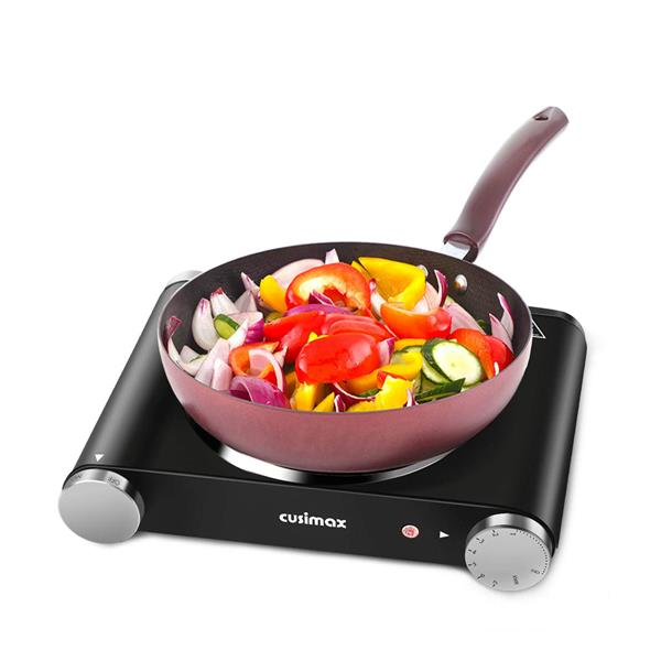 Cusimax Cast Iron Electric Hot Plate Cooking Portable Cooking Single/Dual Countertop Burner(Cannot be sold on Amazon)