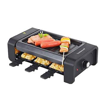 Techwood Raclette Grill Electric Tabletop Raclette Grill Non-Stick Grilling Surface Adjustable Temperature(DO NOT SELL ON AMAZON)