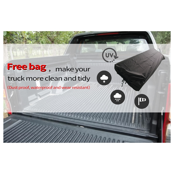 车盖板FOR 6.5' Hard Quad-Fold Tonneau Cover For Tundra Truck Bed 2007-2015