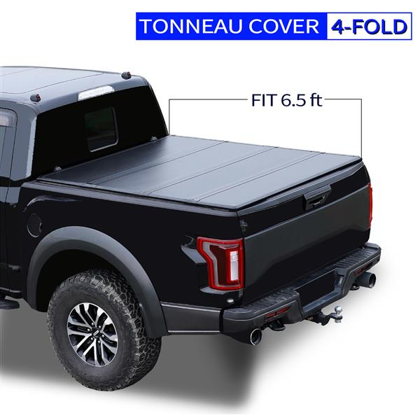 6.5' Hard Quad-Fold Tonneau Cover For Tundra Truck Bed 2007-2015