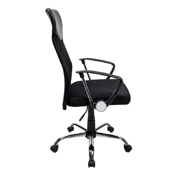 Office Chair Moveable Swivel Chair with Headrest & Armrest Adjustable Computer Desk Chair Rocking Seat, 1pc
