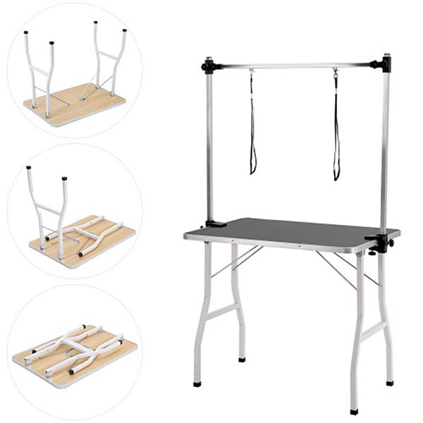 Height Adjustable Pet Grooming Drying Table Small Medium Pet Hair Trimming Hairdressing Counter