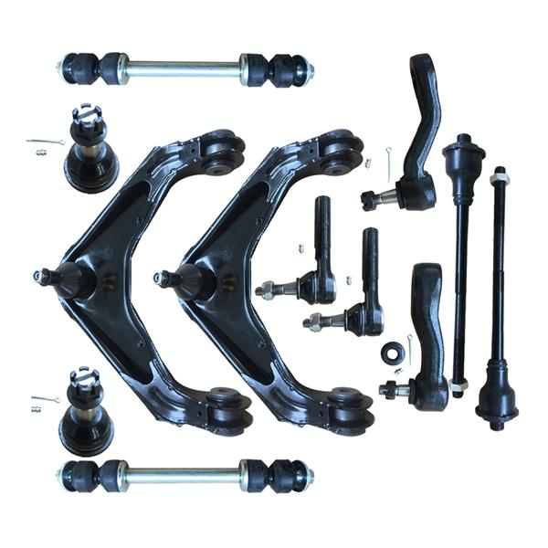 12pcs Complete Control Arm Front Suspension Kit for 01-10 CHEVROLET/GMC 03-07 HUMMER