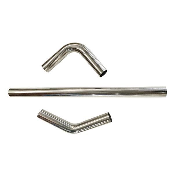 """2.5"""" /63mm T-304 Stainless Steel Straight & 45 90 Degree Bend Exhaust Tube Pipes"""