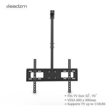 "LEADZM TMC-7006 Ceiling Mount TV Wall Bracket Roof Rack Pole Retractable For 32""-70"" Flat Screen"