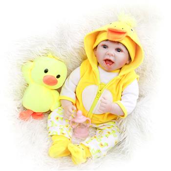 Cloth Body Simulation Doll: 22 Inches Yellow Duckling Costume