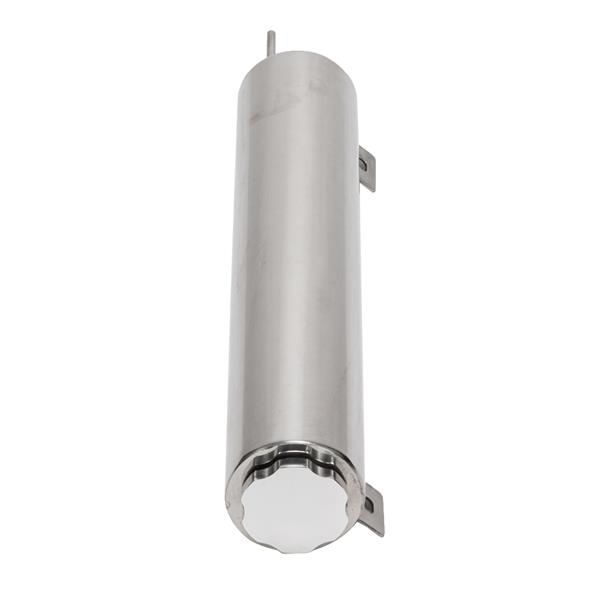 """3"""" X 16"""" Polished Stainless Steel Radiator 50 OZ Overflow Tank Fit Universal"""