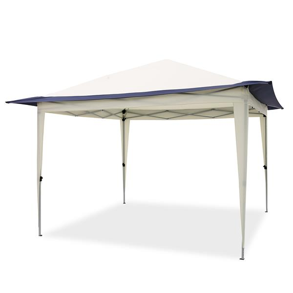 Pop Up Gazebo Tent, Suitable for Patio and Garden, Outdoor Gazebos with 140 Square Feet of Shade, Portable with Carry Bag - blue