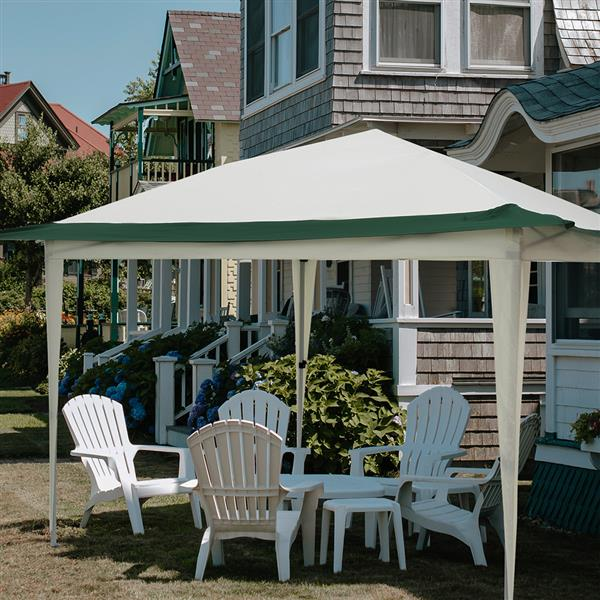Pop Up Gazebo Tent,awning, pavilionSuitable for Patio and Garden, Outdoor Gazebos with 140 Square Feet of Shade, Portable with Carry Bag - green