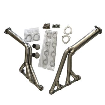 """Exhaust Manifold 1.5"""" Primary Tube, 2.5"""" Collector 64-70 Tri-Y, Full Length, Steel, Ceramic Coated Headers for Ford Mercury, Mustang, Cougar, 260, 289, 302, Pair AGS0098"""