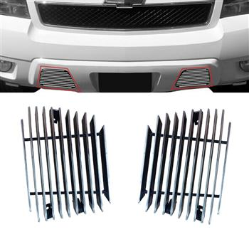 Fits 2007-2014 Chevy Tahoe/Suburban/Avalanche Bumper Billet Grille Grill Insert