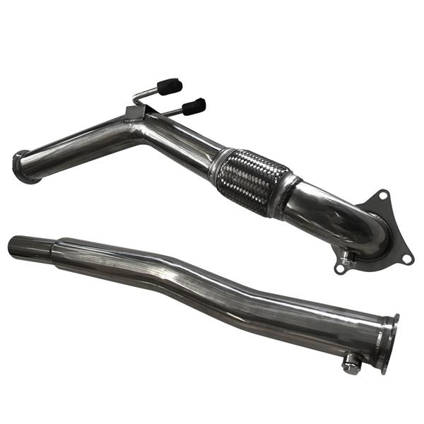 "3"" Turbo Catless Downpipe Exhaust Decat For VW Golf GTi Jetta Audi A3"