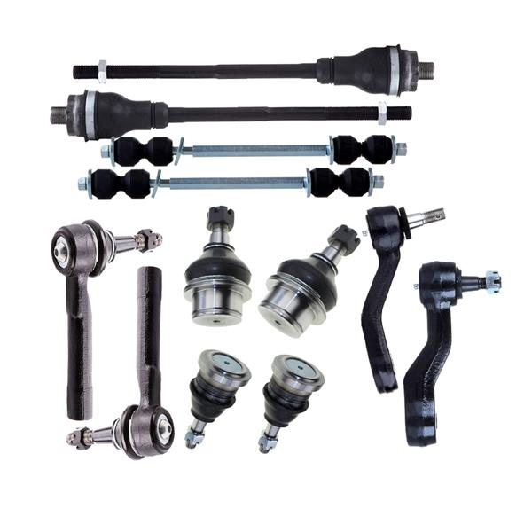 12x Front Ball Joints Inner & Outer Tie Rods Kit For GMC Sierra 1500 Yukon 4WD