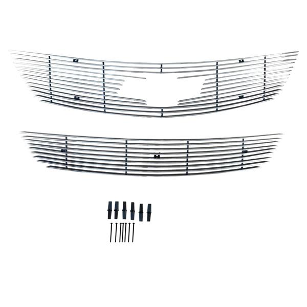 Fits 2014-2015 Chevy Impala With Logo Show Billet Grille Combo