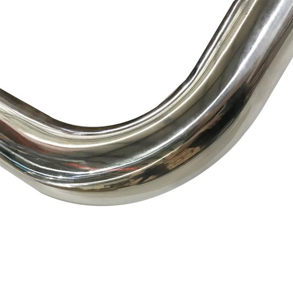 """3"""" Inch 90 Degree T-304 Stainless Steel Exhaust Piping Tubing Tube Pipe 2 Feet"""