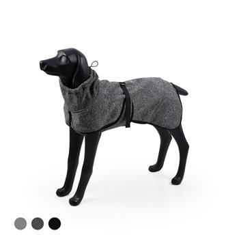 Water Repellent Softshell Dog Jacket Pet Clothes for Spring Autumn,Outdoor Sport Dog Jacket with High Neckline Collar Cold Weather Pets Apparel Winter Warm Coats Puppy Comfort Vest--(DeepGary,size L)