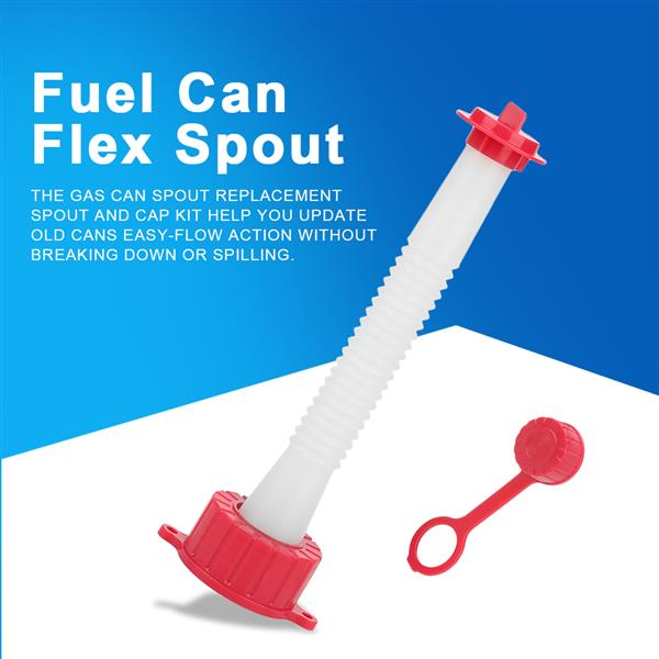 3Pcs Red and White Plastic Replacement Fuel Gas Spout Stopper Screw Cap Kit