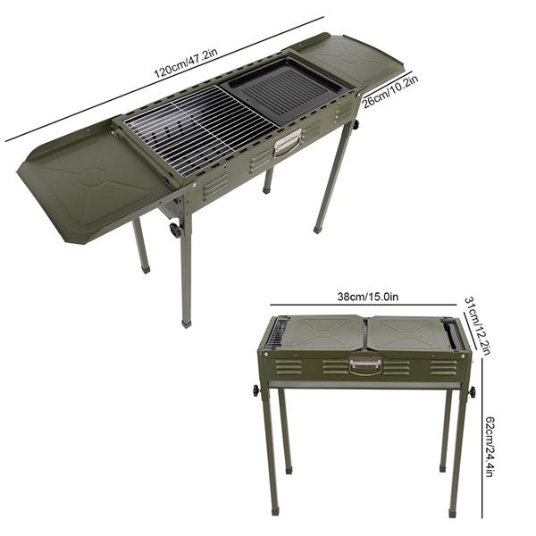 Portable Outdoor BBQ Charcoal Grill Camping Household Folding BBQ Stove Carbon Oven
