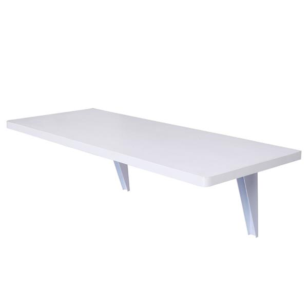 Wall Mounted Floating Folding Table Desk for Office Home Kitchen 80 x 50cm White