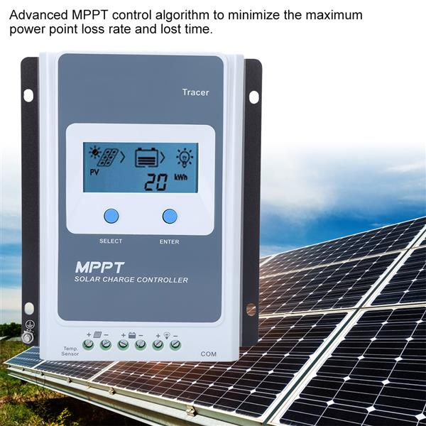 1210AN MPPT10A Solar Charging Controller Automatic Identification Regulator with LCD Screen