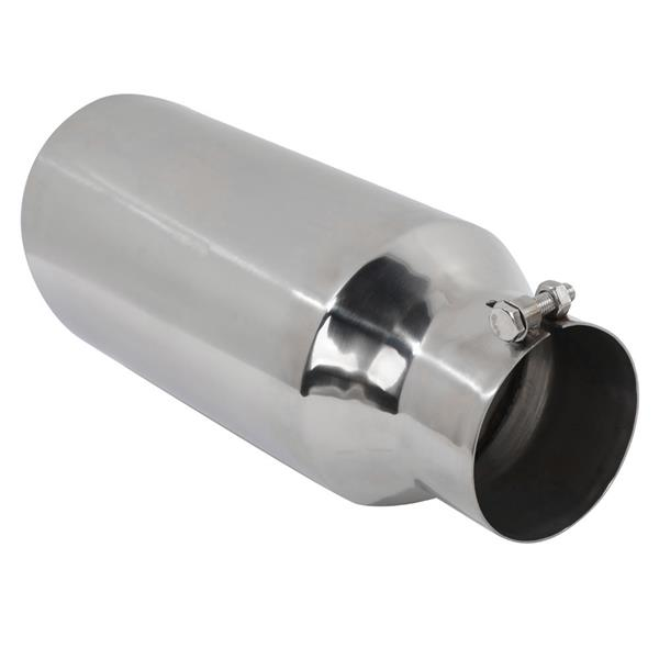 """Polished Stainless Steel Diesel Exhaust Tip for Most Vehicles With 4"""" Diameter Inlet Size Only"""